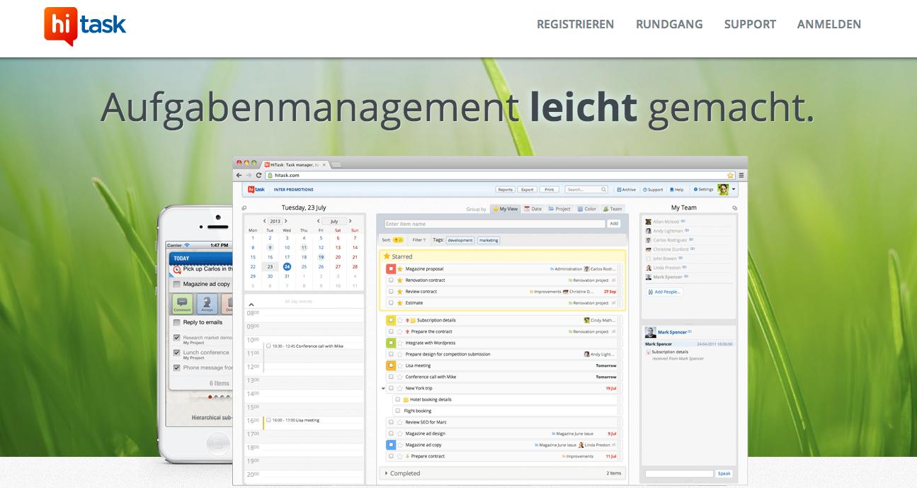 HiTask: Online Managment Tool