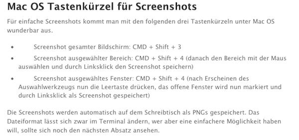Screenshots auf dem Mac: Paparazzi, Tastenkürzel und DragNSnap