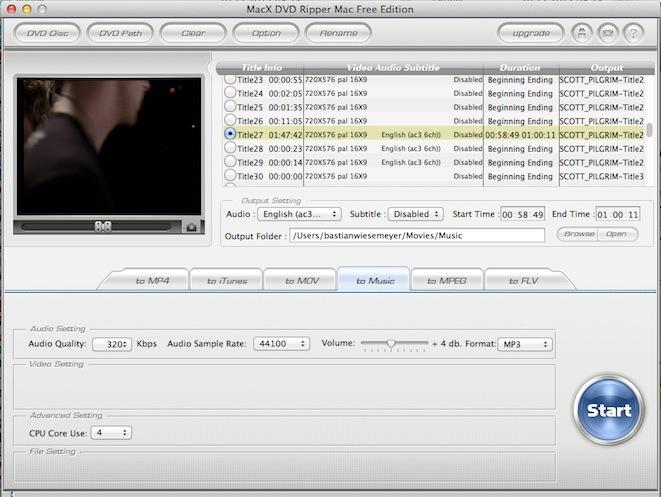 Konvertieren im MacX DVD Ripper