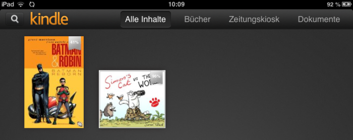 Comics auf dem iPad: Comixology, Dark Horse und Kindle im Vergleich