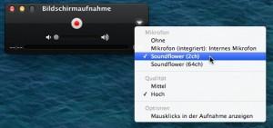 Bildschirm aufnehmen am Mac mit Ton 3