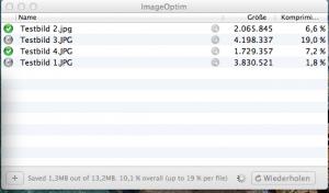 Bilder verkleinern Mac ImageOptim Drag & Drop