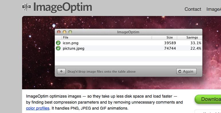 Bilder verkleinern am Mac: JPEGmini vs. ImageOptim