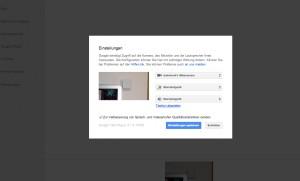 Google+ mit iWebcamera