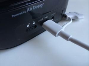 Das Ozaki Combo Cable lädt den Bluetooth Lautsprecher